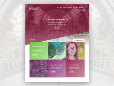 Landing page, National History Museum