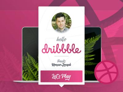 Hi Dribbble! indesign debut