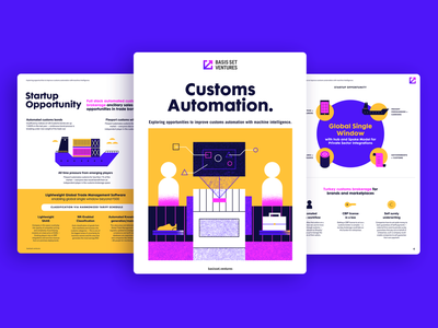 Basis Set Ventures - Reports Preview editorial design report layout ebook layout ebook cover report design tech ai data design machine intelligence illustration document guide book pitch deck ebook report whitepaper