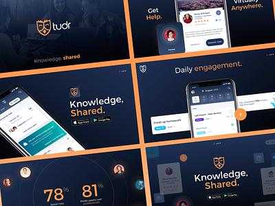 Tudr - Pitch Deck ios ui presentation theme keynote theme app presentation powerpoint keynote slide deck class tutoring tutor app tech ed tech education investor deck investor pitch