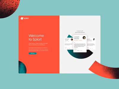 Splor - Onboarding Preview map concept website design ux social discovery travel ui call to action opt in sign in sign up on boarding investor startup onboarding login dashboard website web