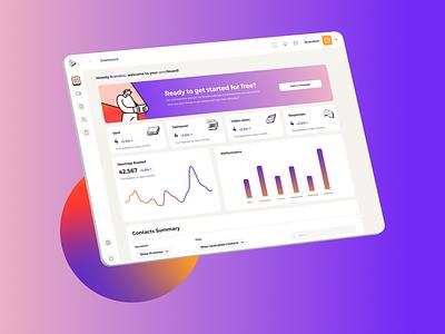 Sendies - Dashboard reports and data dashboard illustration data performance metrics dashboard design dashboard ui