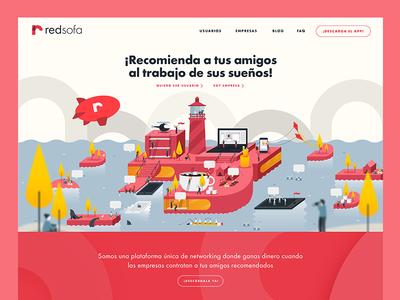 Red Sofa  Landing Page