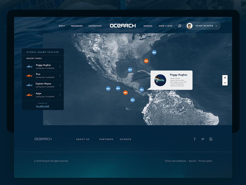 Ocearch - Tracker by Erick Chévez / VÚO on Dribbble
