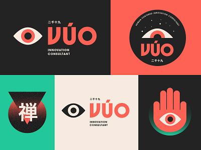VÚO-Branding System logo oriental asian japan vision eye innovation consultant ux ui self branding personal branding ecosystem brand system