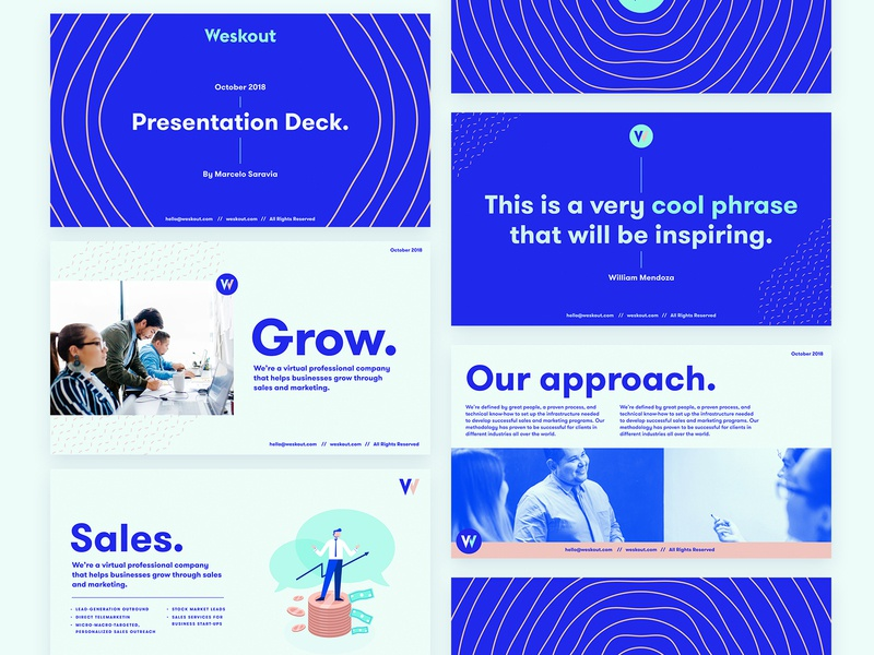 Weskout - Pitch Deck keynote presentation corporate presentation company profile pitchdeck presentation design presentation layout powerpoint keynote presentation investor pitch investor deck pitch pitch deck