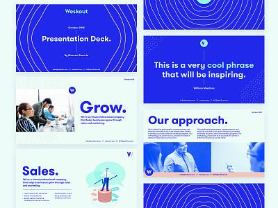 Weskout - Pitch Deck keynote presentation corporate presentation company profile pitchdeck presentation design presentation layout powerpoint keynote presentation investor pitch investor deck pitch pitch deck