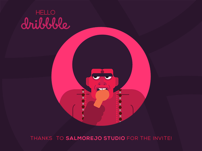 Hello Dribbble invite illustration kumbidi firstshot dribbble