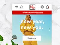 Bèlvoz eCommerce Home Page