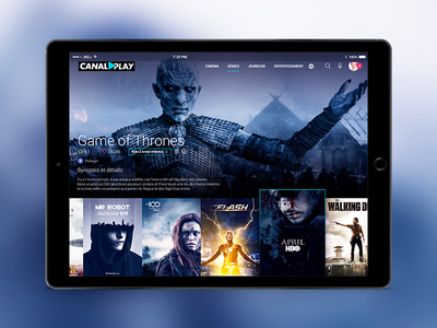 Canalplay Redesign ipad app cinema show video serial vod netflix channel canal