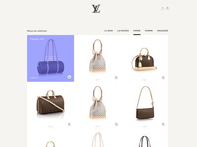 Louis Vuitton Web Desktop shopping woman bag responsive web desktop shop louis-vuitton