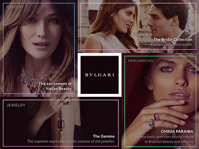 Luxury Desktop Website shop fashion model desktop jewelry bulgari luxury website