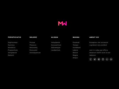 Website minimalist and Logo twitter facebook social logo desktop web portfolio