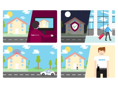 Illustration home security center call safe safety house home smoke alarm system security