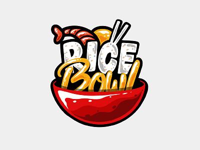 Rice Bowl bowl rice calligraphy font illustration food illustrator typography calligraphy and lettering artist cartoon logos branding calligraphy logo food