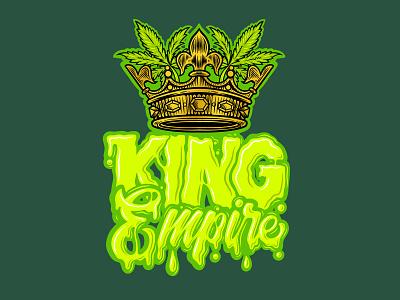 King Empire illustration vector typography kingdom apparel design brand logo color green artwork graffiti drippy calligraphy lettering king empire
