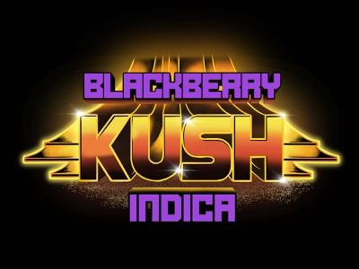 Blackberry Kush blackberry illustration vector artwork logo typography 3d flavor indica kush space lettering