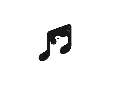 Music Dog dog icon music negative space logo