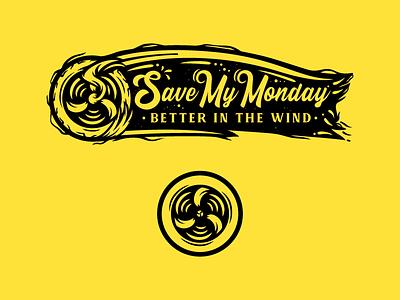 Save My Monday t-shirt merch handletter font calligraphy logo vector design clean badge adobe artwork illustration fan 2d lettering art lettering