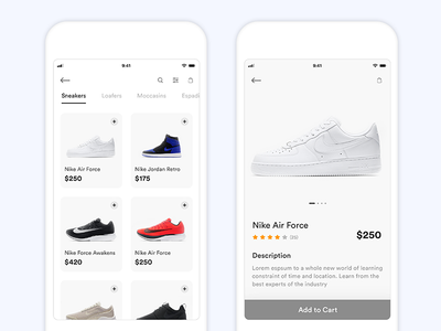 Shoe App Ui ecommerce ios11 design ui app shoe
