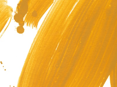 Yellow gouache brush strokes