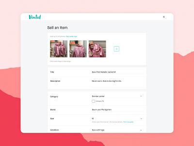 New Upload Form web design ui vinted webdesign userinterface website ecommerce