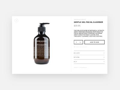 Product card for Nina Maya e-commerce website shopify uxui ui design rwd e-commerce