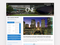Property page for Canary Wharf leasing app