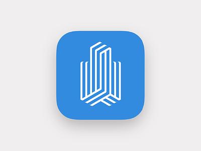 Canary Wharf leasing app icon ios icon app