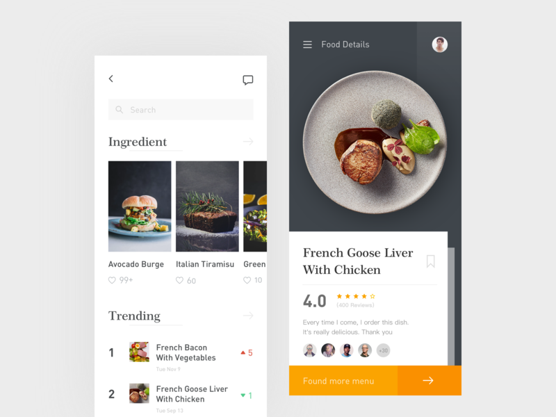 Cookbook App Interface Concept concept app interface design cookbook intgredient food eater cooking dribbble ui cook book cook