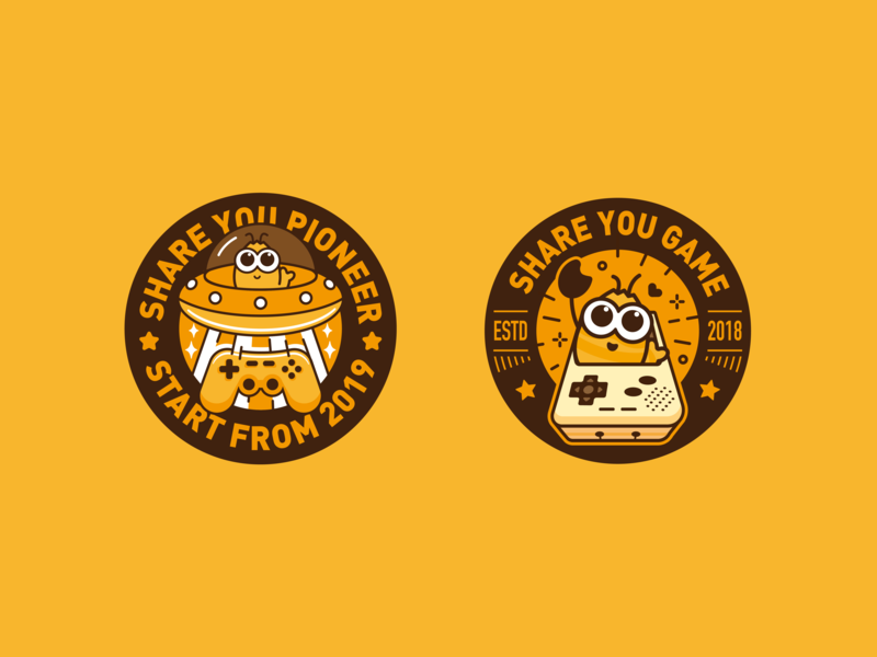 Brand badge-share you badge branding 2019 typography vector share you characer icon design color illustration dribbble