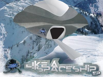 Like A Spaceship illustration typography photoshop mixtape album artwork