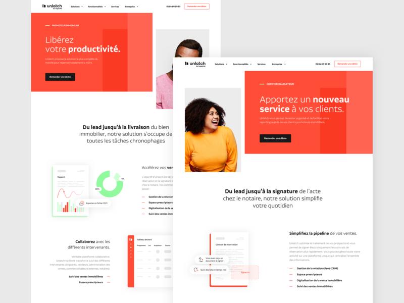 Landing Page Unlatch desktop webdesign illustration website interface product ui ux art direction design