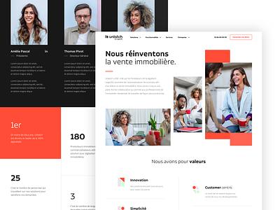 About Page Unlatch icons landing about interface ux ui website art direction branding desktop webdesign design