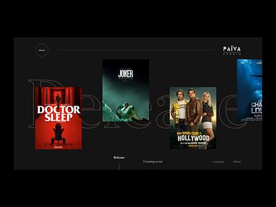 Home Page Païva Studio typography desktop webdesign ux ui branding interface movies art direction design home