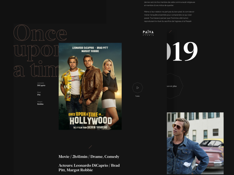 Movie Page Païva landing desktop webdesign typography branding product interface website art direction design