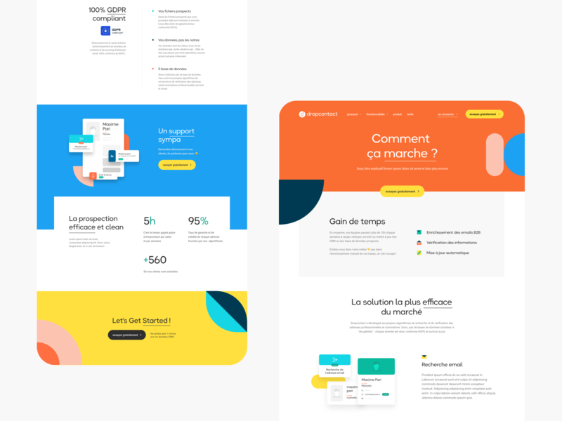 Dropcontact Exploration Landing Page art direction landing product branding desktop interface webdesign ui ux design