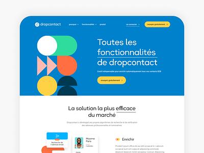 Dropcontact Exploration Features landing webdesign website branding interface desktop ui ux art direction design