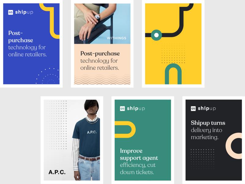 Shipup Branding identity print design poster website typography branding illustration ui art direction billboard print design