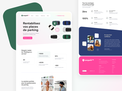Zenpark Landing Page landing illustration interface product desktop webdesign art direction ux ui design