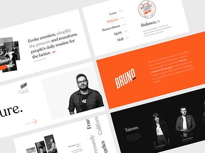 Bruno Culture Page branding design landing agenceme bruno agency typography branding art direction desktop ux ui webdesign design