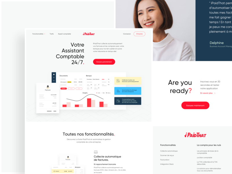 iPaidThat Home Page homepage concept illustration branding product ux desktop website startups ui art direction design