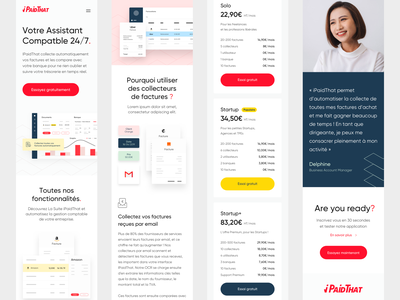 iPaidThat Responsive Mobile website landing page webdesign art direction interface startup product mobile responsive ux ui design