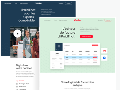 Product Page iPaidThat website designer page landing startup illustration interface branding ui ux product webdesign art direction design
