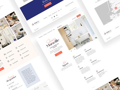 Landing Page Sharies Coliving product desktop landing page coliving art direction branding website webdesign ui ux design