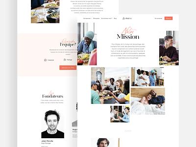 About Page Sharies interface ux landing desktop ui typography branding website art direction webdesign design