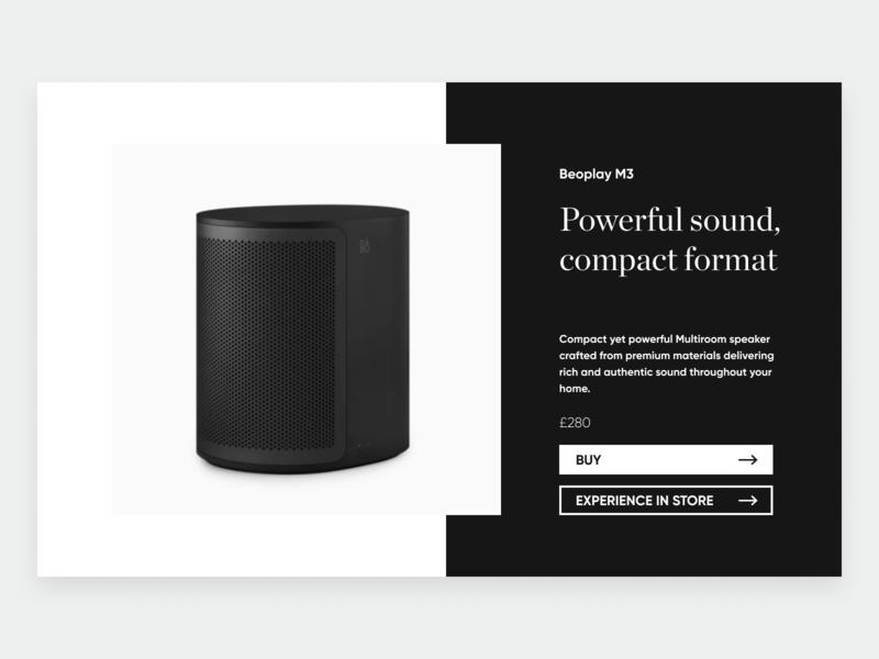 Product Page (Bang & Olufsen)