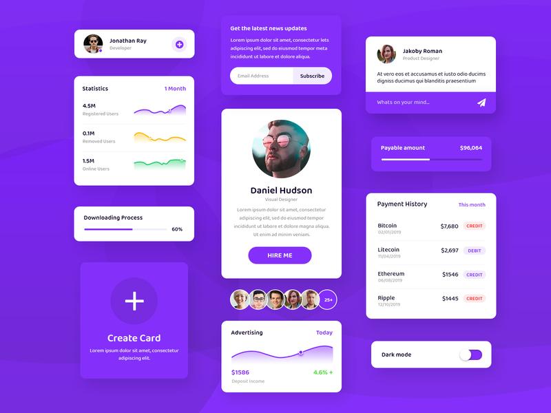 Card UI Kit | Freebie
