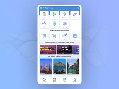Mobile Recharge UI Design