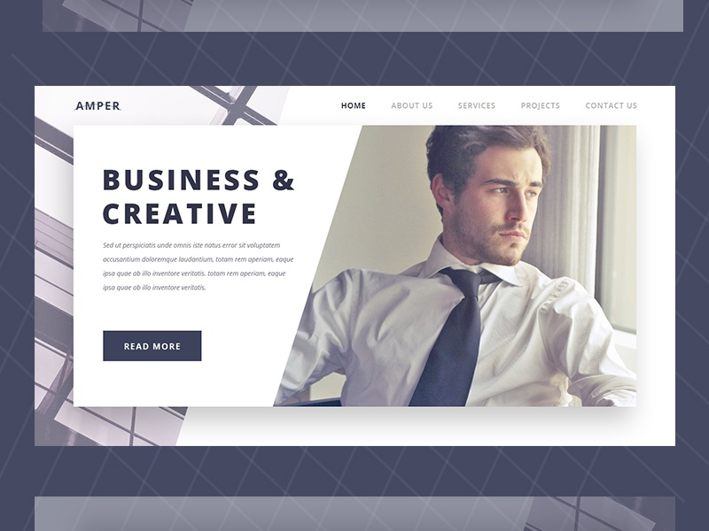 Corporate Business Website Landing Page web design company clean  creative landing page concept landing page design landing page homepage design homepage website banner webdesign website concept corporate corporate brochure corporate branding business